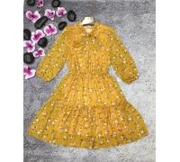 Платье миди с длинным рукавом НК