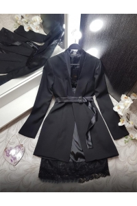 Костюм двойка пиджак и атласное платье