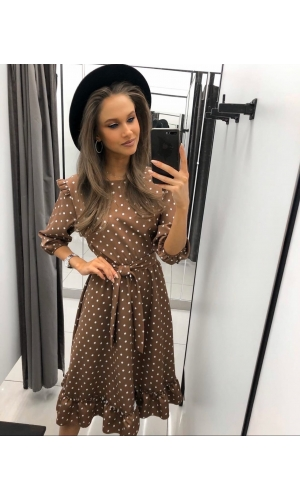 Платье летнее миди в горох