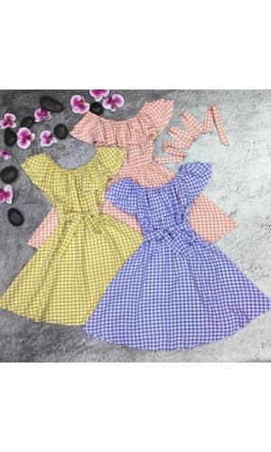 Платье летнее с воланами хлопковое