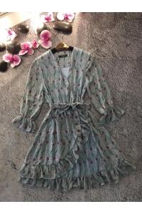 Платье летнее с рукавами на запах