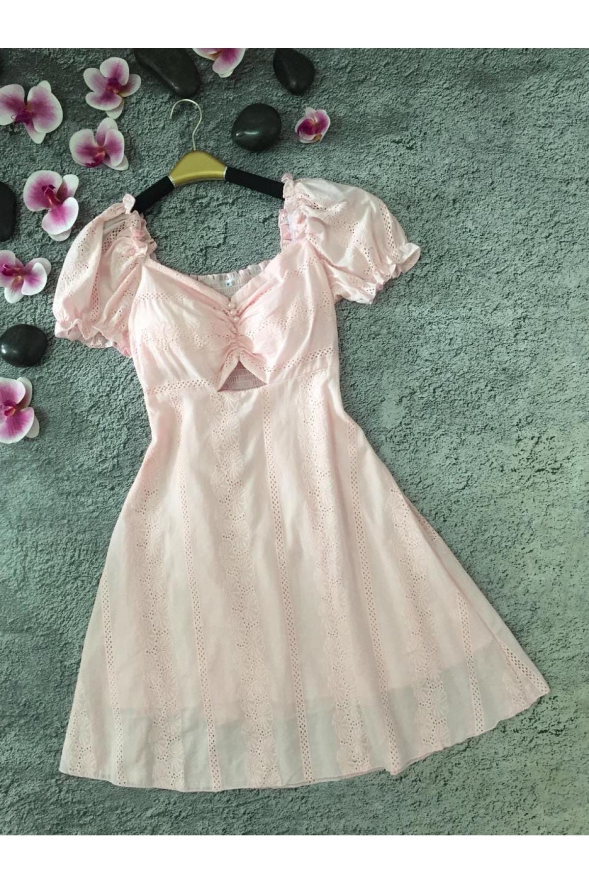 Платье миди летнее с короткими рукавами весна