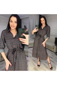 Платье-рубашка люкс