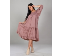 Платье однотонное короткое телесное