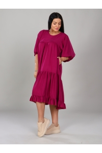 Платье короткое бордовое