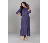 Платье с капюшоном синее