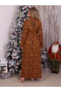 платье теплое желтый цветок