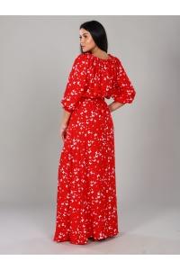 Платье в пол длина макси цвет красный