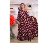 Платье ярусное с карманами