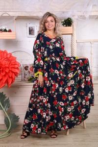 Платье с карманами ярусное