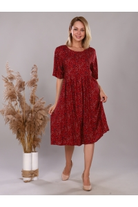 Платье из штапеля подрез красный