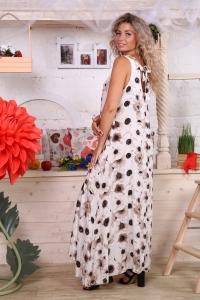 Сарафан в пол цветы штапель