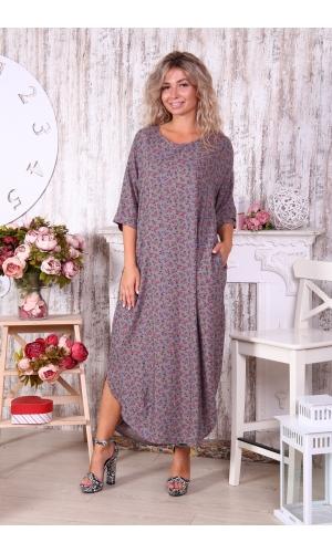 Платье штапель с разрезом