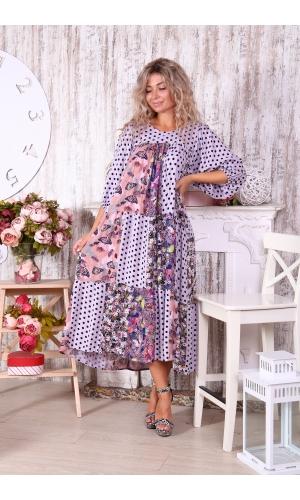 Платье из лоскутов индивидуальный пошив