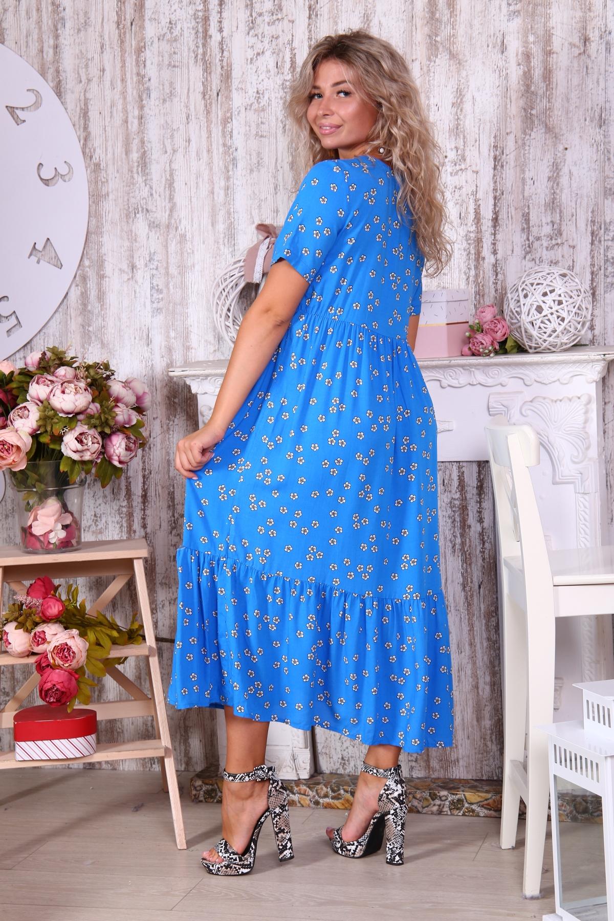 Платье с ярусом в пол
