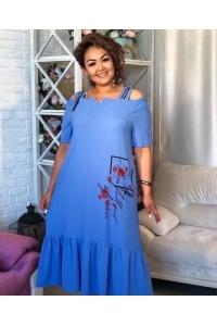 Платье из ткани жатка
