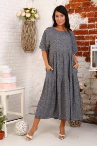Платье из штапеля подрез с карманами