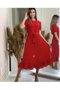 Летящее платье длина миди