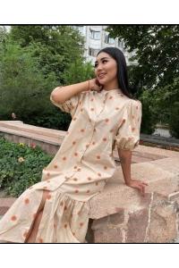 Романтичное и кокетливое цветочное платье