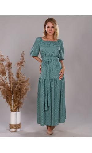Платье из штапеля мятное