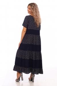 Платье ярусное штапель