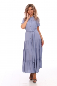 Платье ярусное из штапеля