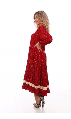 Платье штапель с кружевом
