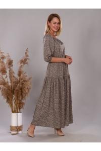 Платье из штапеля мелкий  цветок