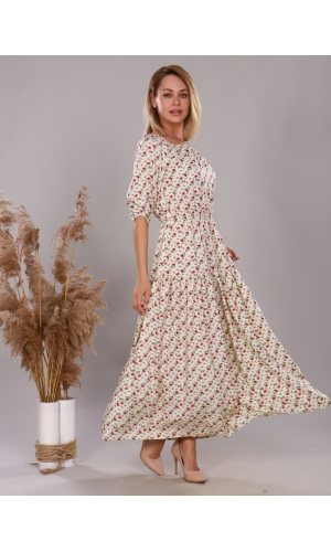 Платье из штапеля белый
