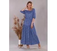 платье синий цветок