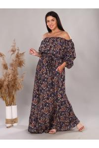 Платье в пол длина макси цвет горох хаки