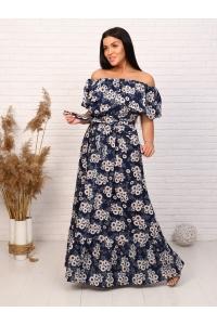 Платье длина макси на резинке короткий рукав