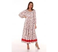Платье повседневное с красным кружевом