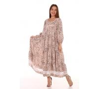 Платье повседневное с белым кружевом, принт бабочки