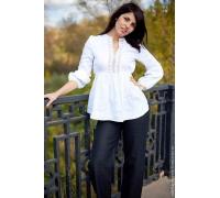 Блузка льняная с длинным рукавом