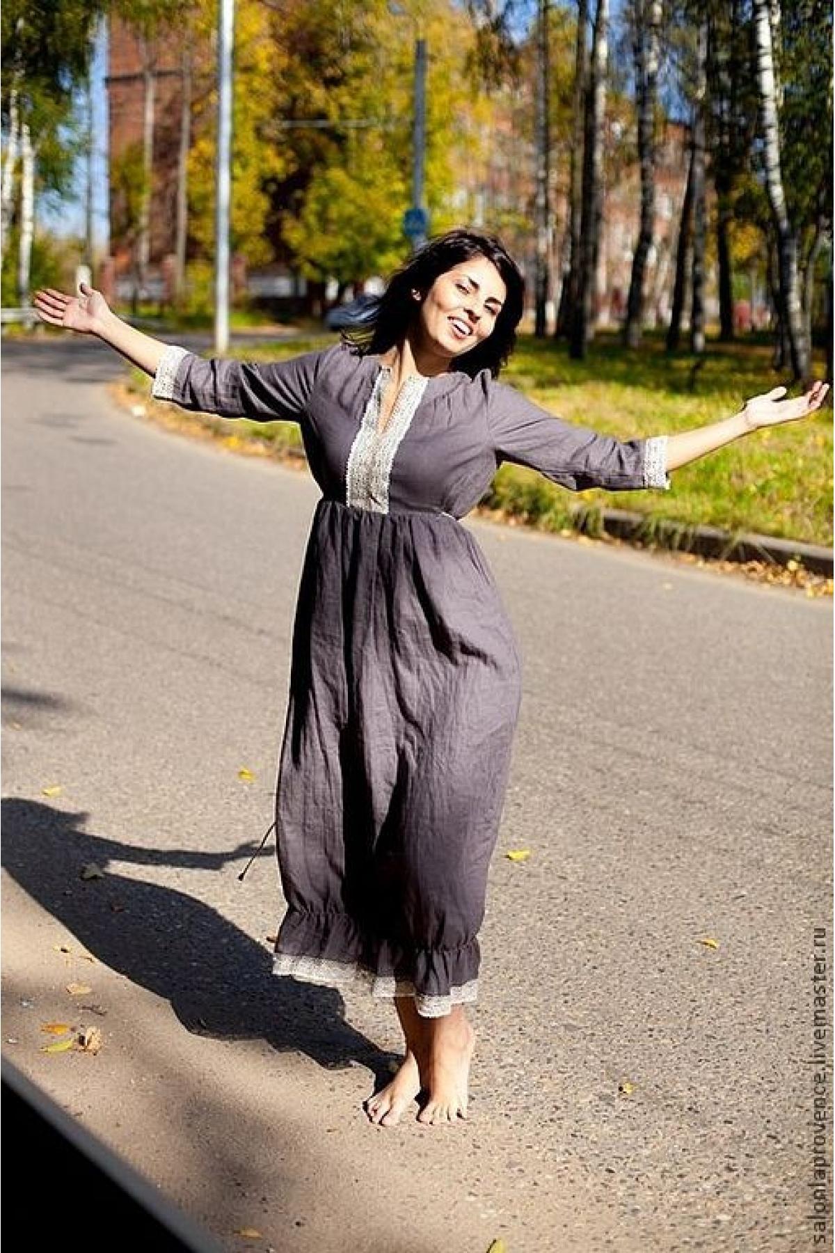 Платье льняное ПРАВАНС - suzdalshop