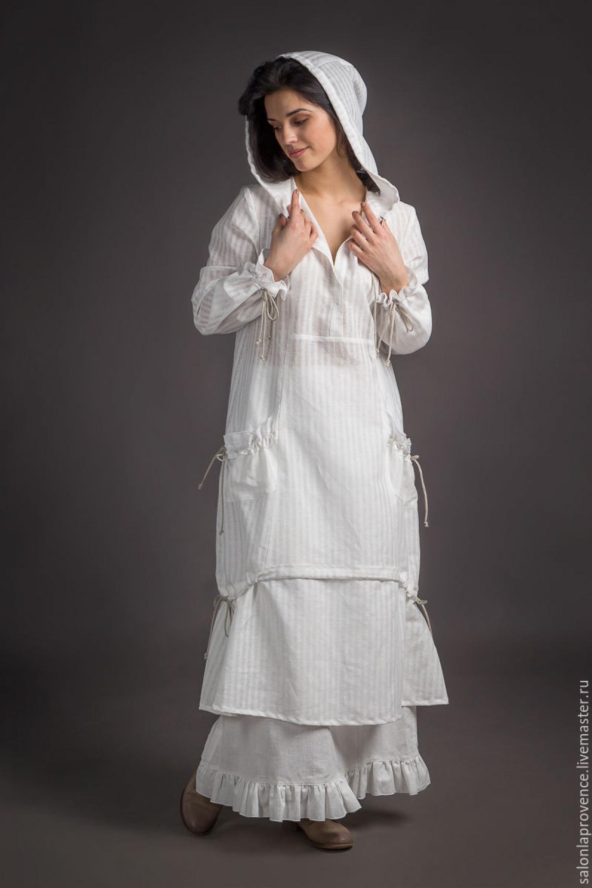Платье с капюшоном и с юбкой - suzdalshop