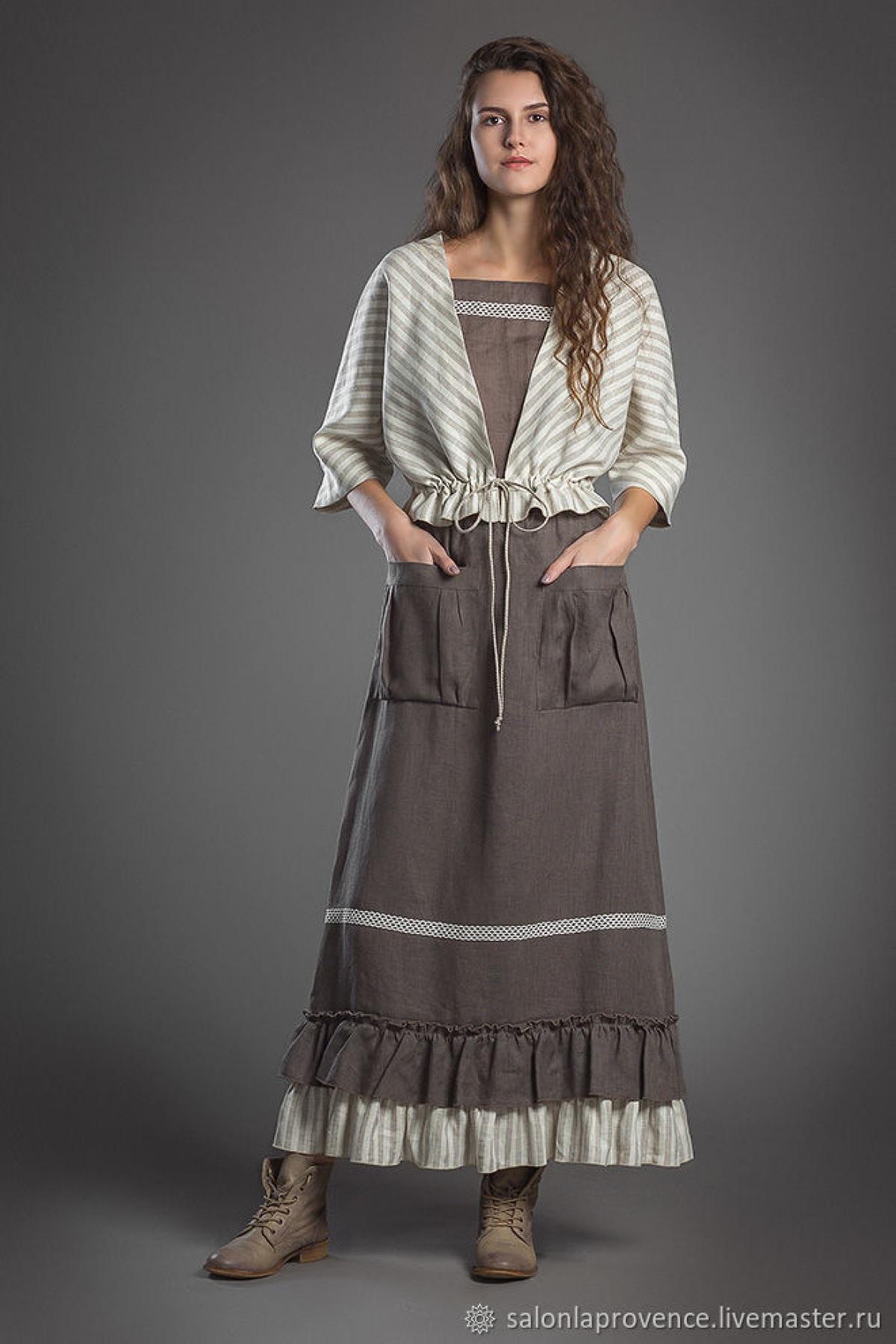 Комплект жакет в полоску , маечка и юбка с полосатой оборкой - suzdalshop