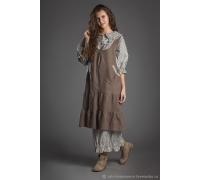 Комплект платье хлопок с длинным рукавом и туника изо льна