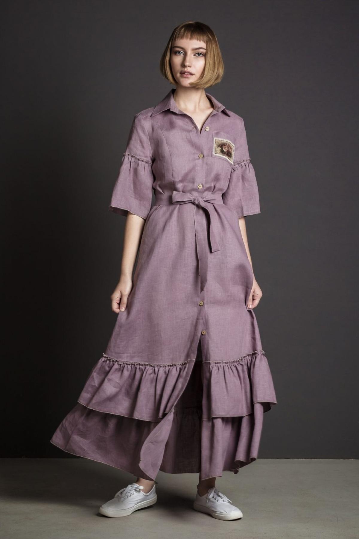 Платье-халат на пуговицах - suzdalshop