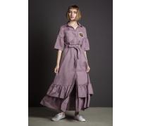 Платье-халат на пуговицах