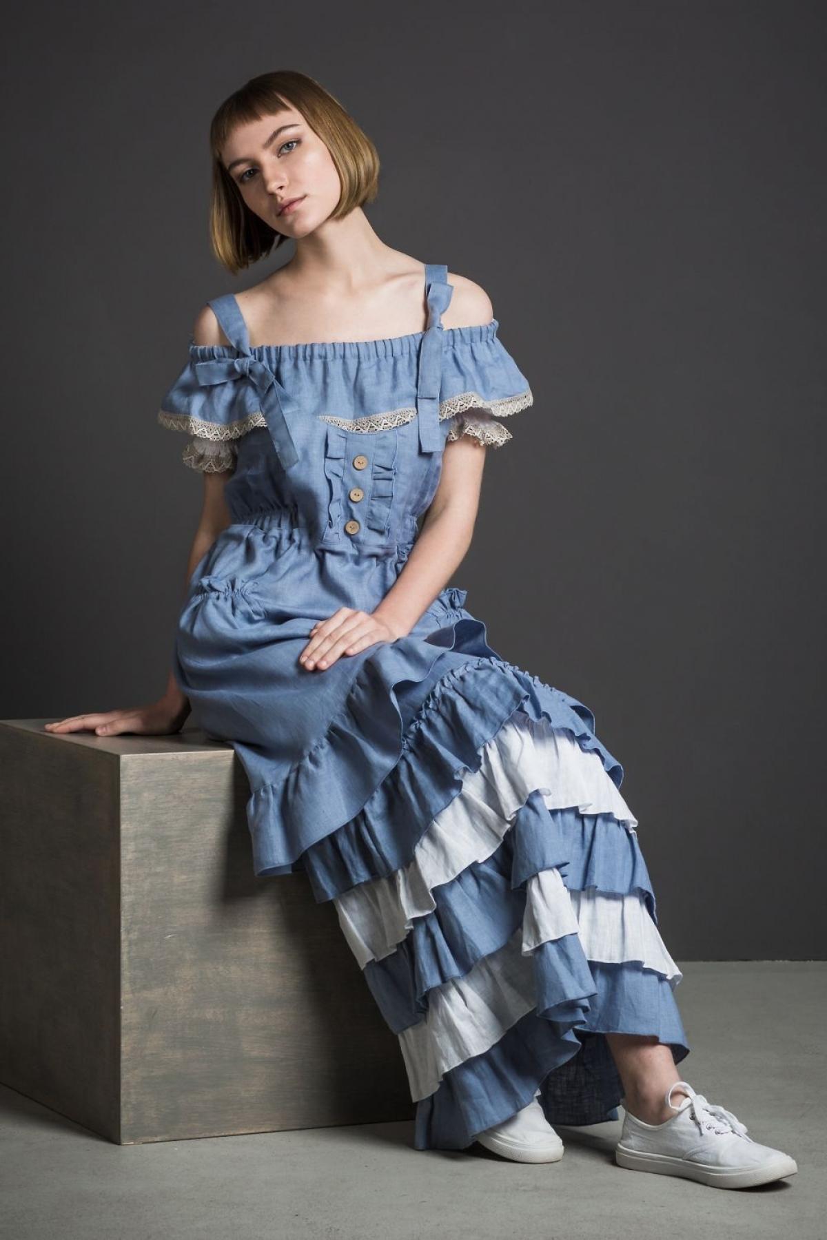 Платье с фартуком БОХО - suzdalshop