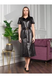 Платье миди с ремнём