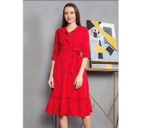 Платье красное миди