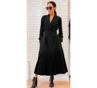 Платье тренч черное