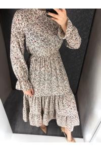 Платье хлопковое в мелкий цветок