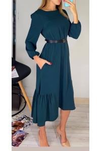 Платье из хлопка зеленое