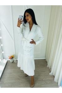 Платье тренч белое