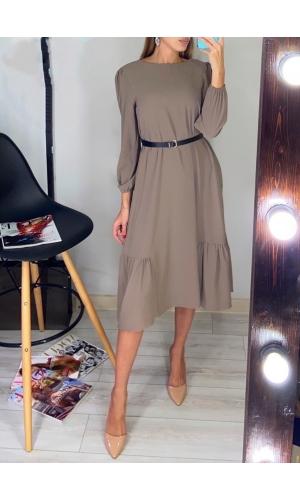 Платье из хлопка серое