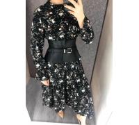 Платье хлопковое черного цвета